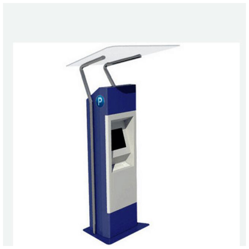 Outdoor Free-Standing Ticketing Kiosk With Dual Screen