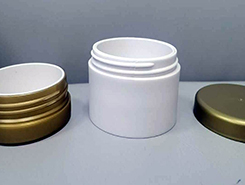 Our company has successfully developed a double jar and double duty plastic cosmetics container