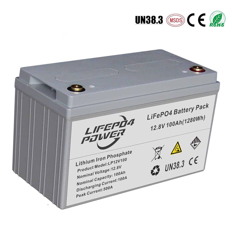리튬 철 인산염 배터리 12V 100Ah
